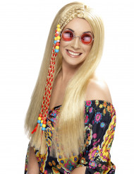 Peruca hippie loura mulher