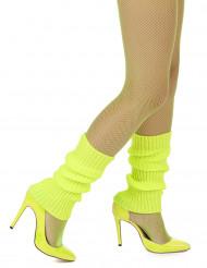 Polainas amarelas fluo mulher