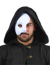Semi-máscara branca para adulto
