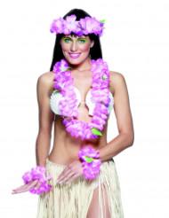 Conjunto havaiano cor-de-rosa para mulher