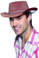 Chapéu de cowboy castanho para homem