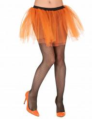 Saia cor-de-laranja fluorescente para adulto