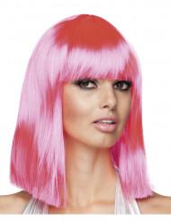 Peruca cor-de-rosa para mulher