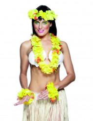 Conjunto havaiano amarelo