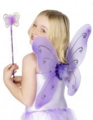 Kit borboleta violeta para menina