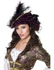 Chapéu roxo pirata mulher
