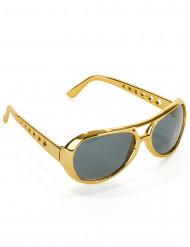 Óculos Elvis™ dourados adulto