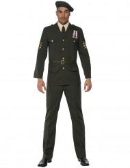 Disfarce oficial militar para homem