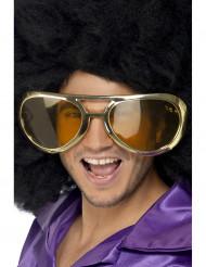 Óculos gigantes dourados adulto