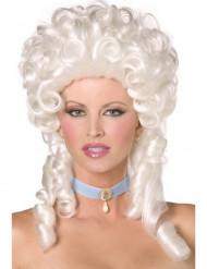 Peruca barroca branca para mulher