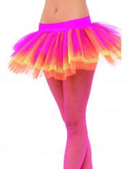 Tutu cor-de-rosa amarelo e cor-de-laranja para mulher
