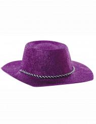 Chapéu cowgirl roxo brilhante