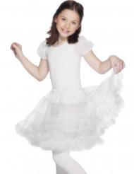 Saia branca rendada para criança
