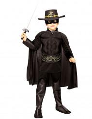 Fantasia Zorro™ musculado para rapaz