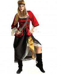 Disfarce pirata luxo mulher