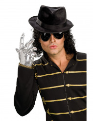 Luva com lantejoulas prateadas Michael Jackson™ adulto