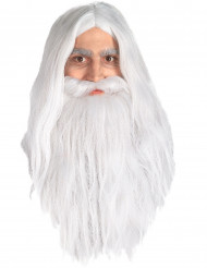 Peruca e barba Gandalf Senhor dos Anéis™ homem