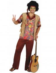 Disfarce de hippie motivos vermelhos para homem
