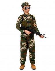 Disfarce militar para menino