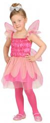 Disfarce fada cor-de-rosa menina
