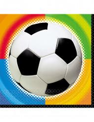 16 Guardanapos de papel Futebol 33 x 33 cm