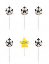 5 Velas de aniversário bolas de futebol