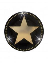 8 Pratos estrela dourada