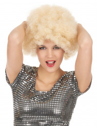 Peruca afro wig loura mulher