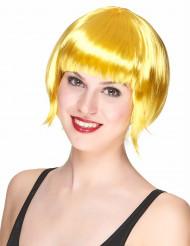 Peruca curta amarela mulher