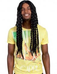 Peruca de Rastafari para adulto com tranças