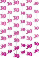 Decorações suspensas idades cor-de-rosa