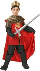 Disfarce rei medieval para menino