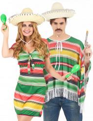 Disfarce de casal mexicanos adulto