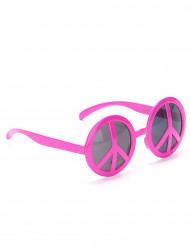 Óculos hippie rosa adulto