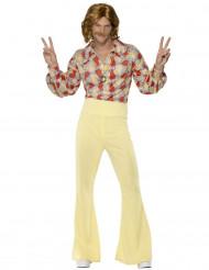 Disfarce disco anos 70 amarelo homem