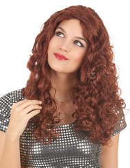 Peruca cor ruiva comprida para mulher
