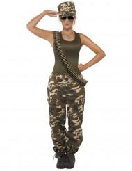 Disfarce militar com calças mulher