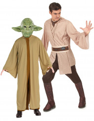 Disfarce de casal Mestre Yoda e Jedi Star Wars™