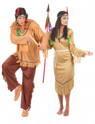 Disfarce casal índios