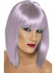 Peruca curta violeta claro mulher