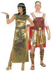Disfarce de casal Cleópatra e soldado romano