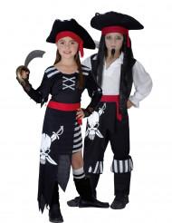 Disfarce de piratas para casal tamanho criança