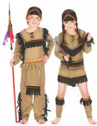 Disfarce de casal índios criança