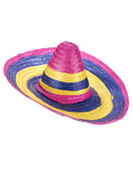 Sombrero multicolor adulto