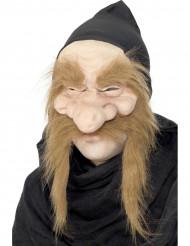 Máscara de velho feiticeiro adulto