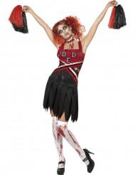 Disfarce zombie pompom menina Halloween