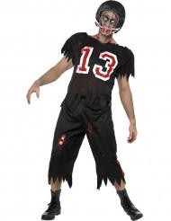 Disfarce casal futebolista americano homem Halloween