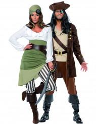 Disfarce para casal piratas
