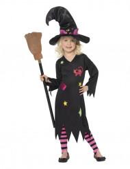 Disfarce bruxa gata menina Halloween