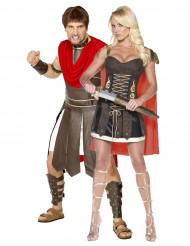 Disfarces de casal gladiadores romanos adultos